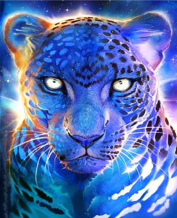 Картина по номерам 30x40 Ледяной леопард